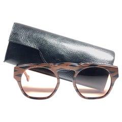 New Vintage Karl Lagerfeld Marble Black & Brown 1980 Germany Sunglasses