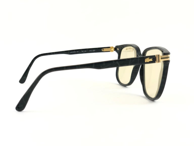 New Vintage Lacoste 171 Oversized Frame Changeable Lenses 1970 Sunglasses For Sale 5