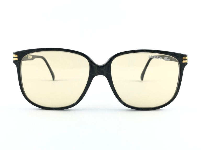 New Vintage Lacoste 171 Oversized Frame Changeable Lenses 1970 Sunglasses In Excellent Condition For Sale In Amsterdam, Noord Holland
