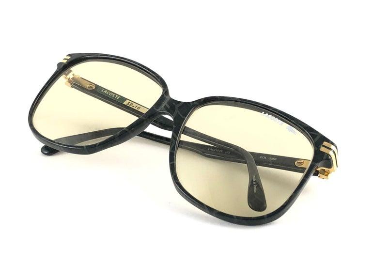 New Vintage Lacoste 171 Oversized Frame Changeable Lenses 1970 Sunglasses For Sale 3