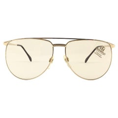 New Vintage Menrad M743 Gold Aviator Oversized Sunglasses Made in Germany 1970s