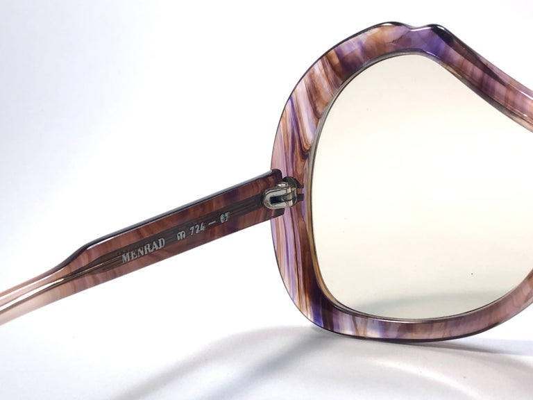 Beige New Vintage Menrad Multicolour  Funk Germany 1970 Sunglasses  For Sale