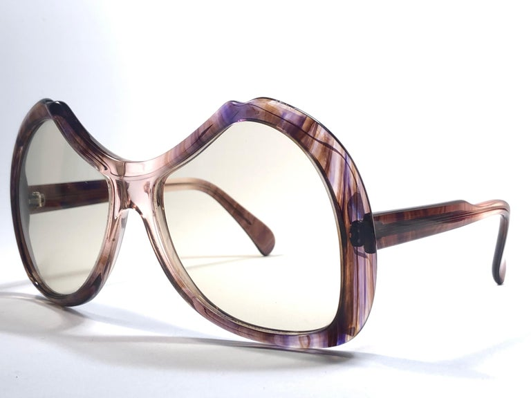 Women's or Men's New Vintage Menrad Multicolour  Funk Germany 1970 Sunglasses  For Sale