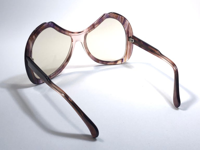 New Vintage Menrad Multicolour  Funk Germany 1970 Sunglasses  For Sale 1