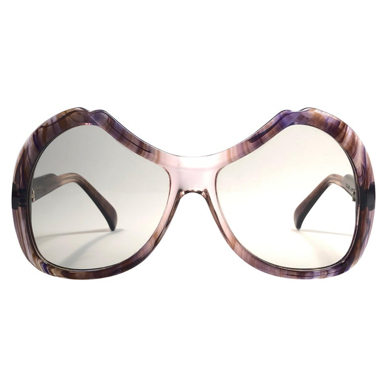 New Vintage Menrad Multicolour  Funk Germany 1970 Sunglasses  For Sale