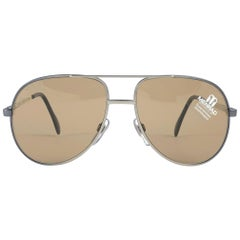 New Vintage Menrad Silver Oversized Made in Germany 1970 Sunglasses