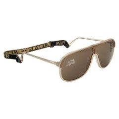 New Vintage Metzler Beige & Brown Sports Sunglasses Made in Germany 1980's