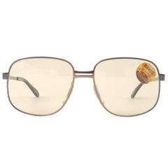 New Vintage Metzler Zeiss 9153 Oversized Copper Sunglasses West Germany 1980's