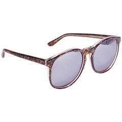 New Vintage Michele Lamy Diffuse Mirror Print Oversized Sunglasses