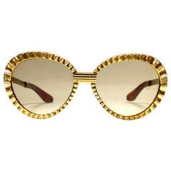 New Vintage Michelle Brevet 1950's Oversized Handmade in France Sunglasses