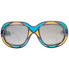 New Vintage Michelle Brevet 1950's Stained Glass Handmade in France Sunglasses