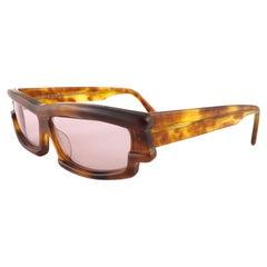 New Vintage Mikli CM 88 559 055 Mask Tortoise Handmade in France Sunglasses 1990