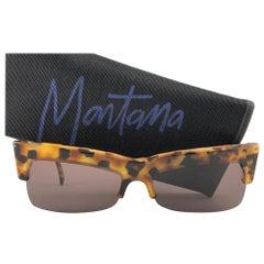 New Vintage Mikli & Montana 522 Mask Tortoise Handmade in France Sunglasses 1990