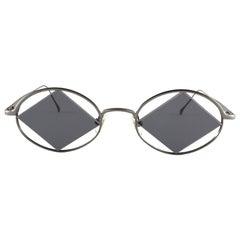 New Vintage Miyake Design Studio IM 402 Silver 1990 Made in Japan Sunglasses