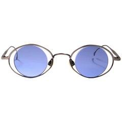 New Vintage Miyake Design Studio Matte M402 Silver 1990 Made in Japan Sunglasses