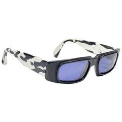 New Vintage Montana 5598 Black & White Mask Handmade in France Sunglasses 1990