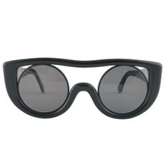New Vintage Montana 564 Black Handmade in France Sunglasses 1980's