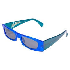 New Vintage Montana M605 True Blue & Green Handmade in France Sunglasses 1990