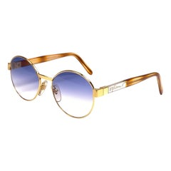 New Vintage Moschino By Persol M32 Frame Medium Round Gold Sunglasses