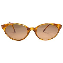 New Vintage Moschino By Persol Tortoise MF963 Cat Eye Sunglasses Made in Italy