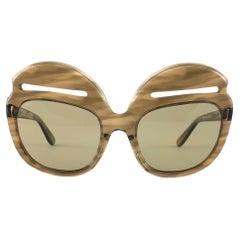 New Vintage Pierre Cardin 6496 Slits Accents Oversized Sunglasses, 1960s