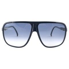 New Vintage Pierre Cardin Dark Blue Oversized CAVALIER 1970's sunglasses