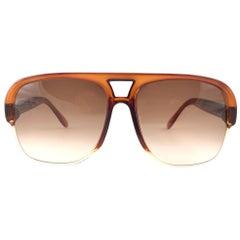 New Vintage Pierre Cardin Oversized 7008 CAVALIER Honey Tortoise 1970 Sunglasses