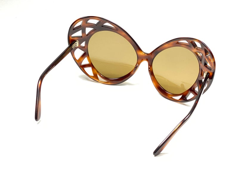 New Vintage Pierre Cardin Oversized Avantgarde Collector Item 1960's Sunglasses For Sale 1