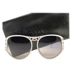 New Vintage Playboy 4543 Optyl White Optyl Sunglasses Made in Austria