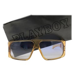New Vintage Playboy 4545 Optyl Translucent Oversized Optyl Sunglasses