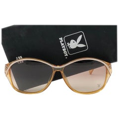 New Vintage Playboy 4559  Optyl Amber Translucent Sunglasses Made in Austria