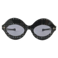 New Vintage Pompeii Chequered Made in Italy Sunglasses, 1970