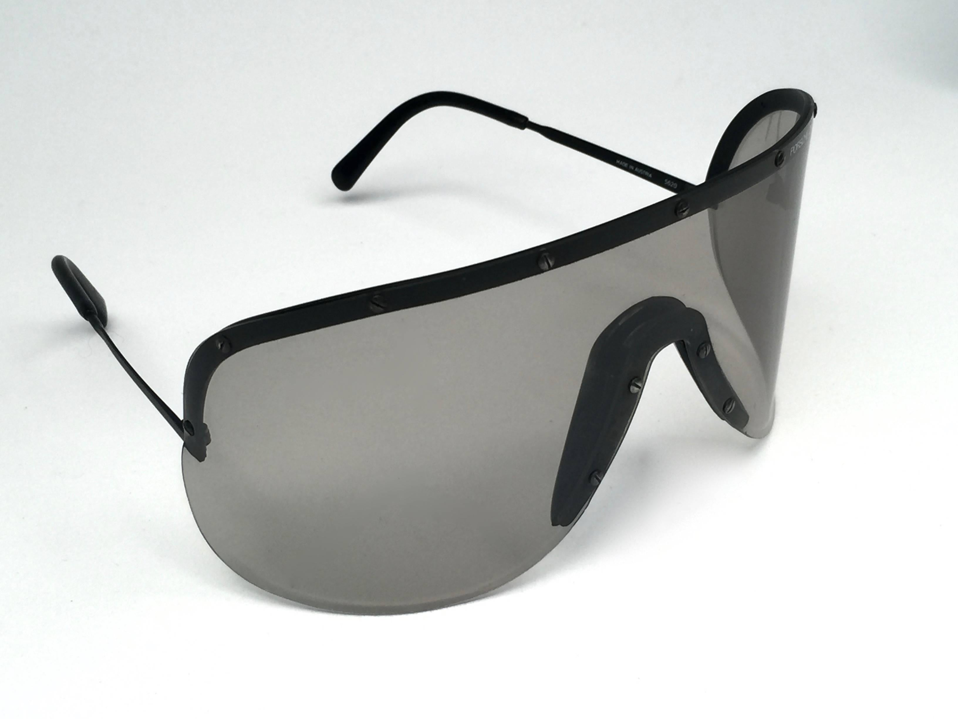 fac3be3442 New Vintage Porsche Design 5620 Shield Collector Item 1980 s Yoko Ono  Sunglasses For Sale at 1stdibs