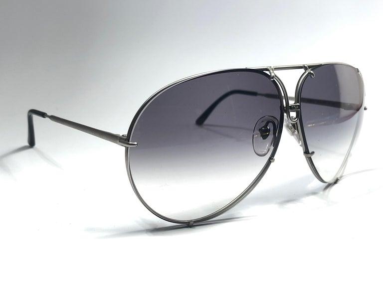 1b988fc64bbe8 Gray New Vintage Porsche Design By Carrera 5621 Titan Matte Large  Sunglasses Austria For Sale