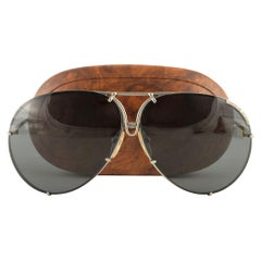 New Vintage Porsche Design By Carrera 5621 Titan Matte Large Sunglasses Austria