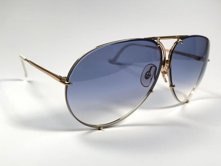 9f140a0a66675 Black New Vintage Porsche Design By Carrera 5621 White Gold Large  Sunglasses Austria For Sale