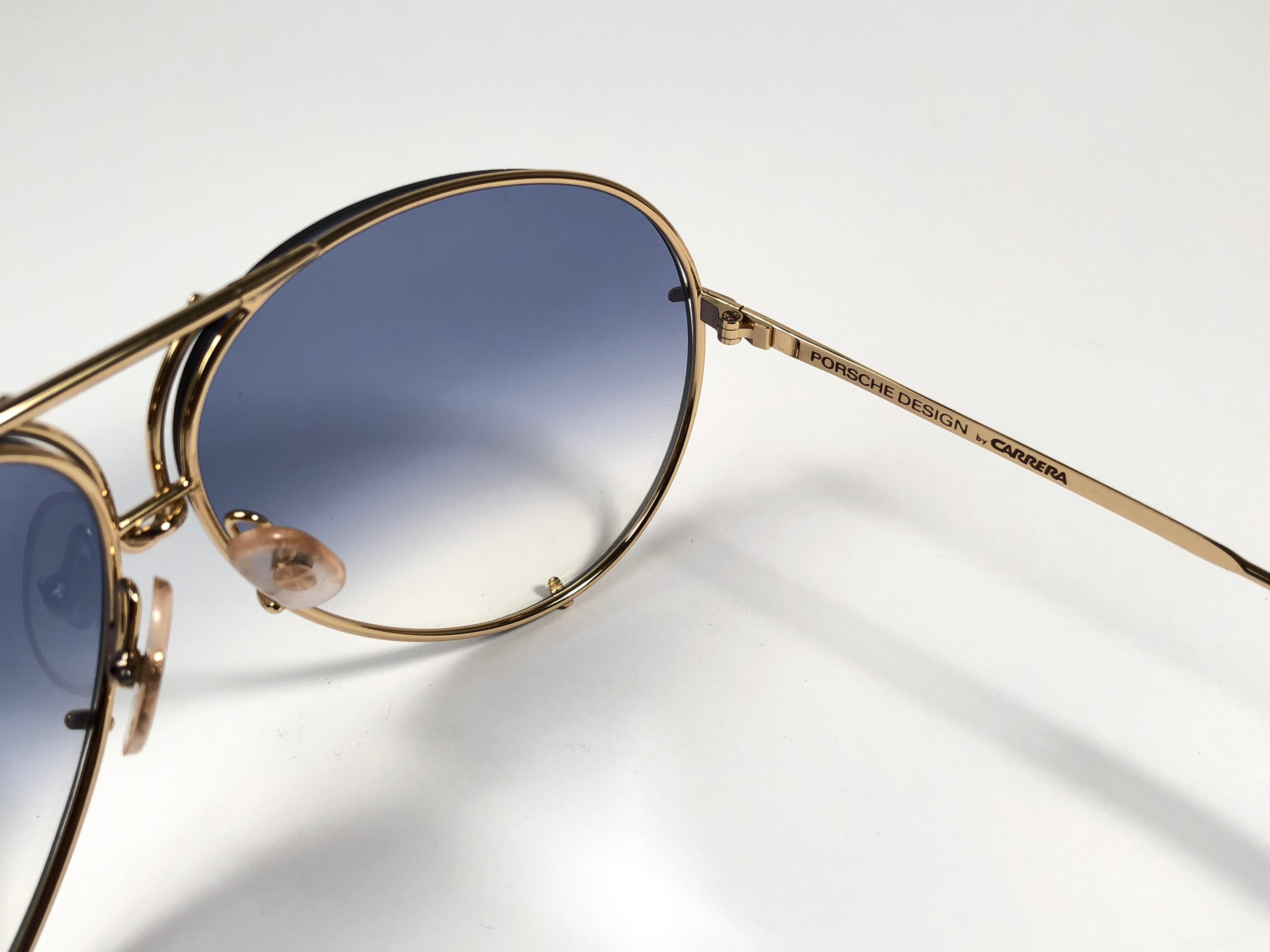 0a4a1eaa37515 New Vintage Porsche Design By Carrera 5621 White Gold Large Sunglasses  Austria For Sale at 1stdibs