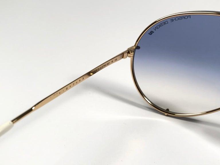 fe3d49abc2bc2 New Vintage Porsche Design By Carrera 5621 White Gold Large Sunglasses  Austria For Sale 2