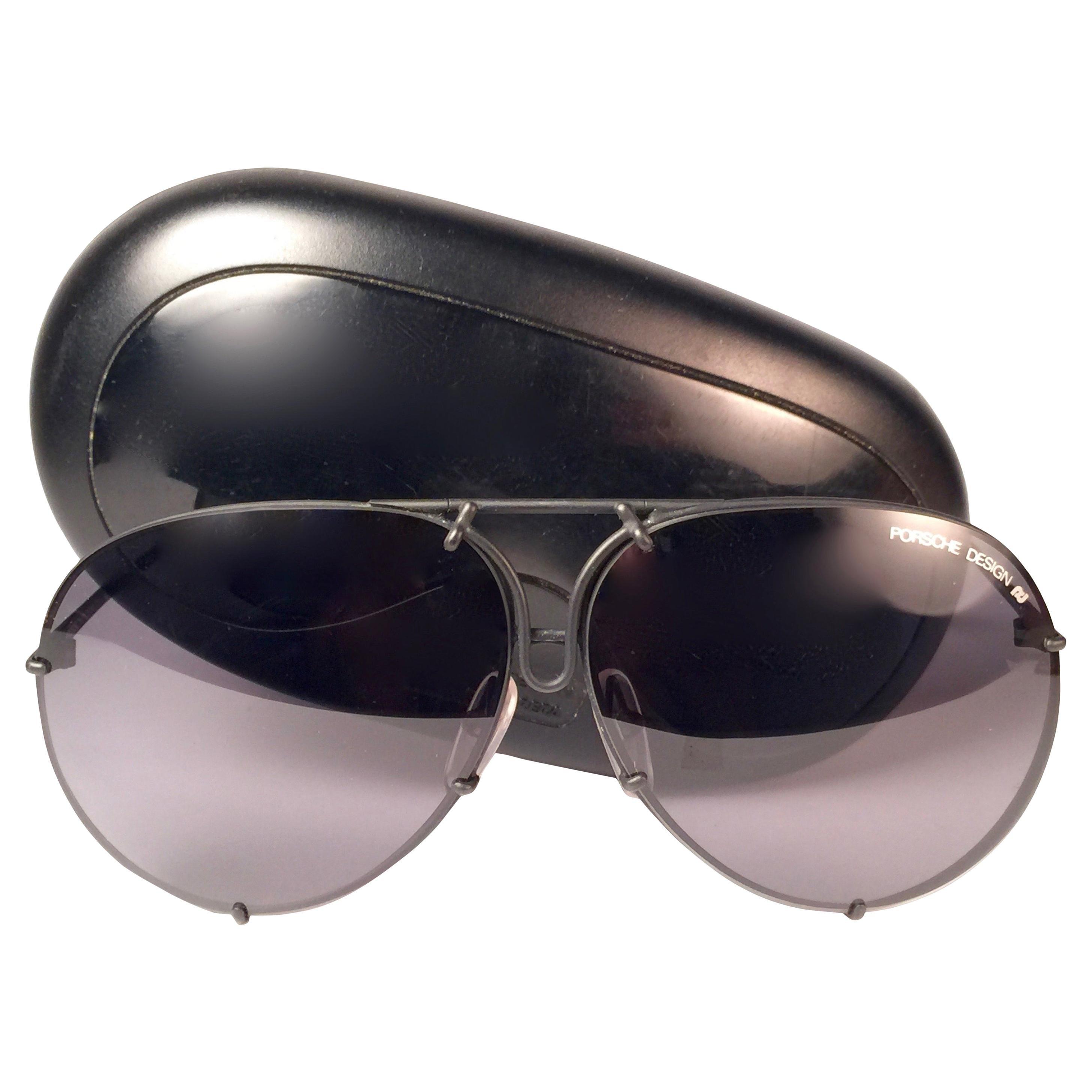New Vintage Porsche Design By Carrera 5623 Black Matte Large Sunglasses Austria