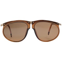New Vintage Porsche Design By Carrera 5660 Amber and Gold Sunglasses