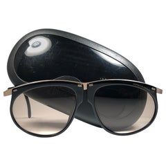 New Vintage Porsche Design By Carrera 5660 Black and Gold Sunglasses