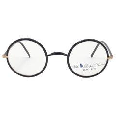 New Vintage Ralph Lauren Classic Round Small Dark Brown RX 1990 Sunglasses