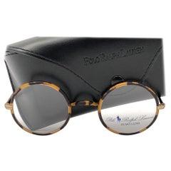 New Vintage Ralph Lauren Classic Round Small Dark Tortoise RX 1990 Sunglasses