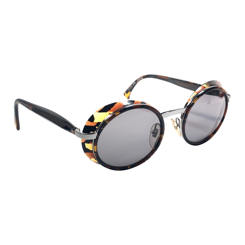 New Vintage Rare Alain Mikli 3124 Tortoise & Black France Sunglasses 1990