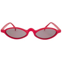 New Vintage Rare Alain Mikli 3191 Candy Red France Sunglasses 1990