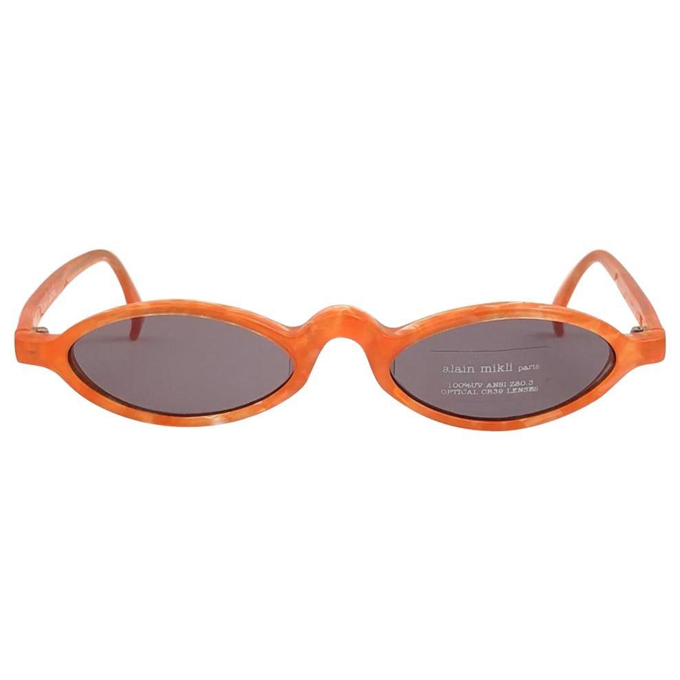New Vintage Rare Alain Mikli 3191 Spring Tangerine France Sunglasses 1990