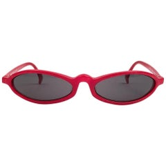 New Vintage Rare Alain Mikli 3193 Candy Red France Sunglasses 1990