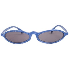 New Vintage Rare Alain Mikli 3193 Cerulean Blue France Sunglasses 1990