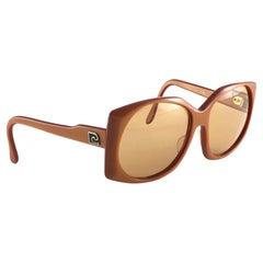 New Vintage Rare Pierre Cardin 518 Dark Orange Oversized 1960's sunglasses