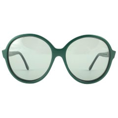 New Vintage Rare Pierre Cardin Dark Green Oversized 1960's sunglasses